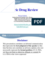 Generic Drugs Review