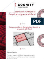 Samouczek Excel - Funkcje Baz Danych.pptx