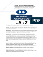 Dicionário de Termos Técnico Da Administração