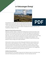 Kelebihan Dan Kekurangan Energi Geothermal