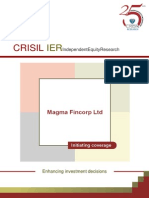 CRISIL Research  Report Magma Fincorp 2012