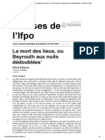 Liban, espaces partagés et pratiques de rencontre - La mort des lieux, ou Beyrouth aux nuits dédoublées - Presses de l'Ifpo