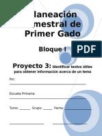1er Grado - Bloque I - Proyecto 3