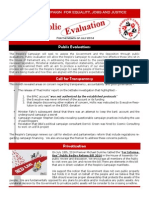 Newsletter - July 2014 Public Evaluations