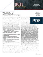 Wwi Origins in Europe