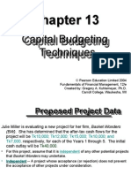 Capital Budgeting Capital Budgeting Techniques Techniques