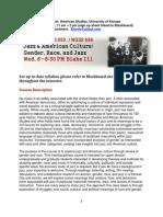 Ams 650_wgss 696 Jazz 2014 Syllabus, Fall 2014