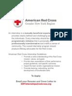 American Red Cross Fall Internship Program 2014
