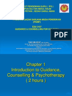 Topic 1 Introdution of Guidance, Counseling & Psychotherapy