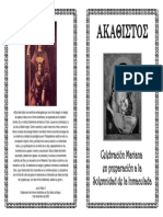 Akathistos - Folleto celebración