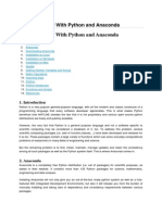 Getting Started With Python and Anaconda
