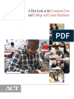act-college readiness  ccss