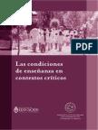 1 - Las Condiciones de Enseñanza en Contextos Críticos