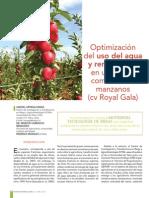 Optimización Del Uso Del Agua y Rendimiento en Manzano