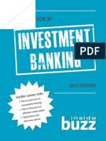 An Inside Look at Investment Banking 2013