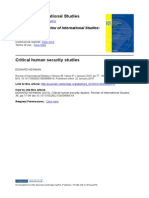 Critical Human Security