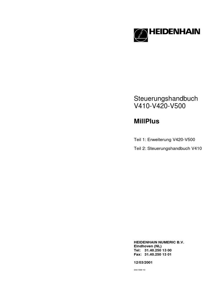 Usermanuals Millplus V500 D