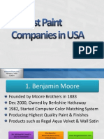 10 Best Paint Companies in USA