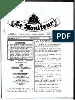 Arrete Definissant Les Modalites d'Application Du Decret Du 23 Septembre Relatif a l'ONI