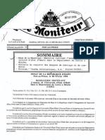 Resolution Du Senat Instituant l'Annexe de l'Ueh a Hinche