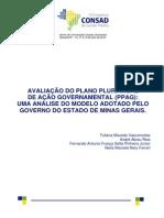 038 Avaliação Do Plano Plurianual de Ação Governamental Ppag Uma Análise Do Modelo Adotado Pelo Governo Do Estado de Minas Gerais