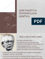 Jean Piaget e a Epistemologia Genética PC