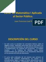 Curso de Matemática I Aplicada Al Sector Público