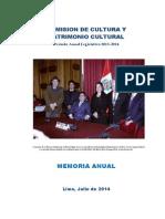 Memoria Anual de la Comisión de Cultura 2013 - 2014