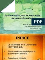 Creatividad en El Docente Universitario