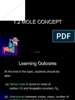 MATTER (1.2 Mole Concept)