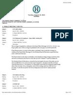 Hoboken Board of Education Agenda- August 19, 2014