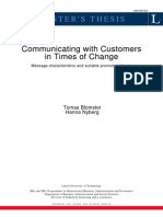 Communicating With Customers in Times of Change