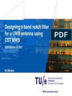 Designing a Band Notch Filter for a UWB Antenna Using CST MWS