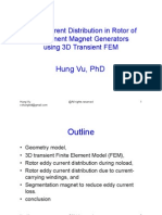 Eddy Current Distribution in Rotor of Permanent Magnet Generators using 3D Transient FEM