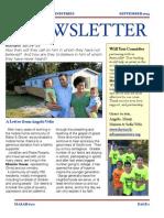 Sept 2013 Newsletter