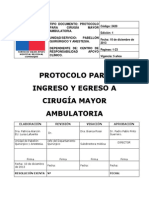 Protocolo Cirugia Mayor Ambulatoria