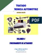 Volumen IV - Funcionamiento de Actuadores