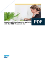 Creating a UI Configuration and Integrating It With the MDG Communicator