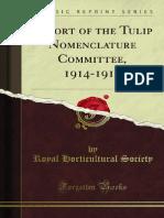 Report of the Tulip Nomenclature Committee 1914-1915 1000829230