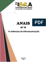 Anais 6 - VI Jornada de Pós-graduação