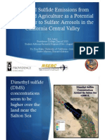Dimethyl Sulfide Emissions from Dairies and Agriculture as a Potential Contributor to Sulfate Aerosols in the California Central Valley