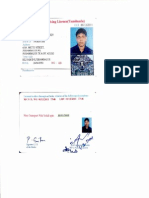 Gautham Driving License