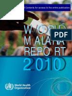 malaria 2010 who