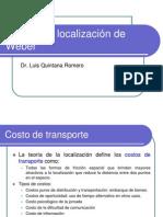 Modelo de Localización de Weber. l. Quintana Romero