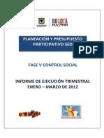 Informe Control Social I Trimestre 2012