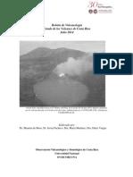 Estado de los Volcanes. Julio 2014