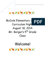 curriculum night14-15
