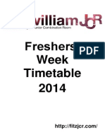 Official Freshers Timetable 2014