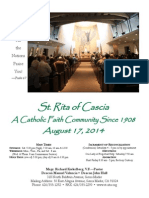 St. Rita Parish Bulletin 8/17/2014