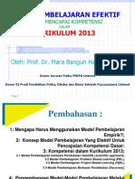 Model Pembelajaran Efektif Untuk Pencapaian Kompetensi Dasar Menurut Kurikulum 2013